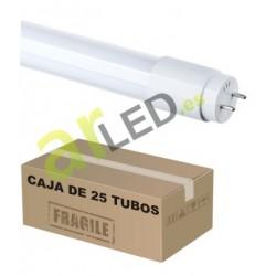 CAJA DE 25 TUBOS LED DE 60cm 9W 300º DE CRISTAL