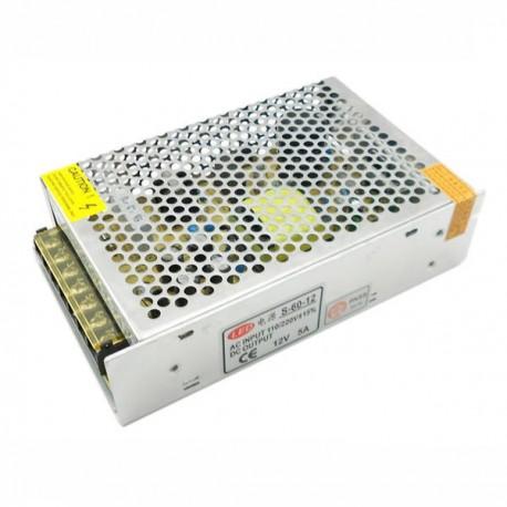 TRAFORMADOR TIRA LED 12V DE 60W IP20 Alt