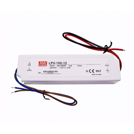 TRANSFORMADOR LED MEAN WELL LPV -100-12V