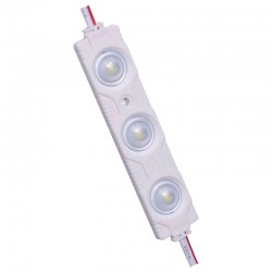 MODULOS 2835 3 LEDS lente 160º grados