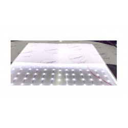 Tira rígida 2835 12 LEDS lente 170º grados 12v