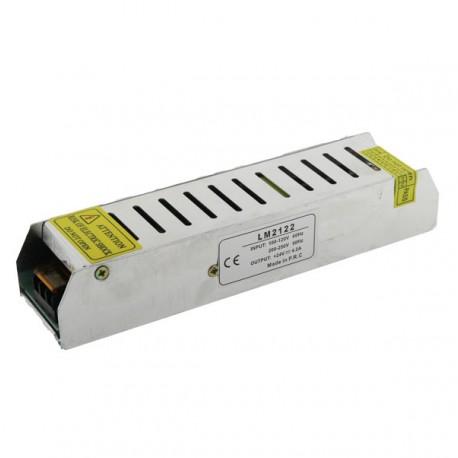 TRANSFORMADOR FINO TIRA LED 12V DE 100W IP20 Alt