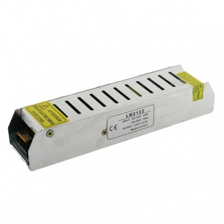 TRANSFORMADOR FINO TIRA LED 24V DE 150W IP20 Alt