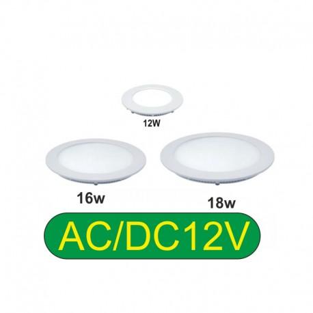 DOWNLIGHT LED DE 12W,16W o 18w FUNCIONAMIENTO AC/DC 12V A 24V