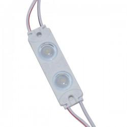 20 Modulo 2835 DE 2 LEDS lente 170º grados 12v IP65